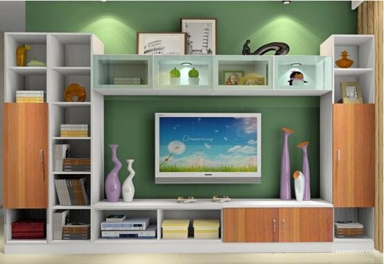 墙上电视柜装修效果图