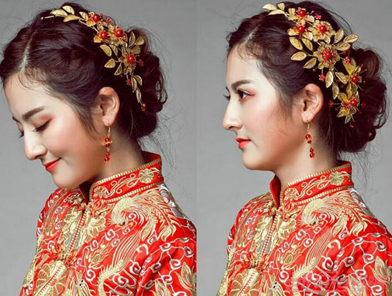 中式新娘发型大全图片