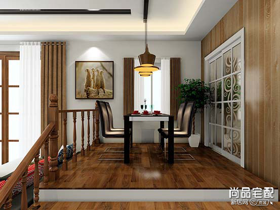 中式客厅装修样板房