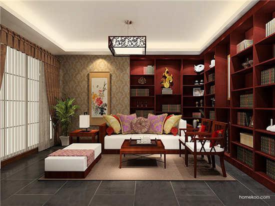 小书房布置小户型空间利用雅宝家具厨房推拉门尺寸酒柜吧台电热水