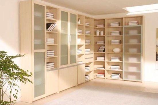 拐角书柜图片