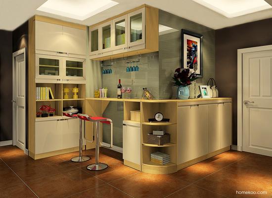 新居图库 客厅装修效果图 吧台组合 酒柜吧台图片欣赏,简约而实用