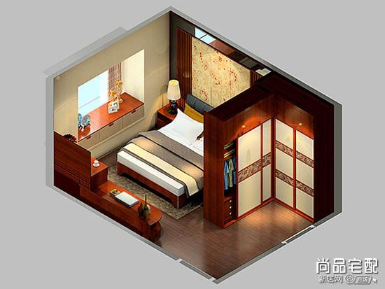 第三种卧室柜子隔断效果图,就是巧用图书馆概念.