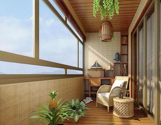阳台装修实景图