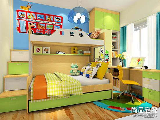 儿童房上下铺装修效果图