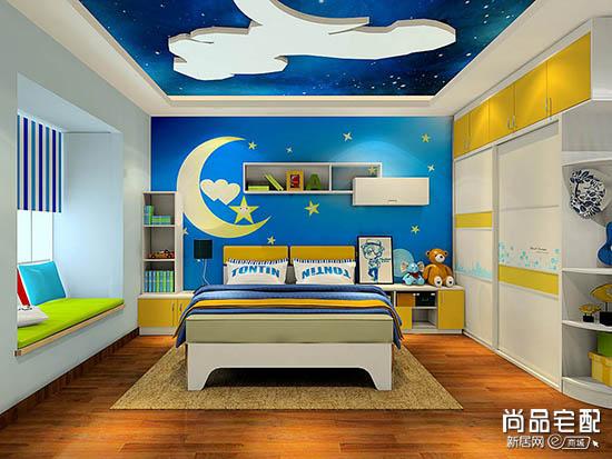 男孩儿童房手绘墙