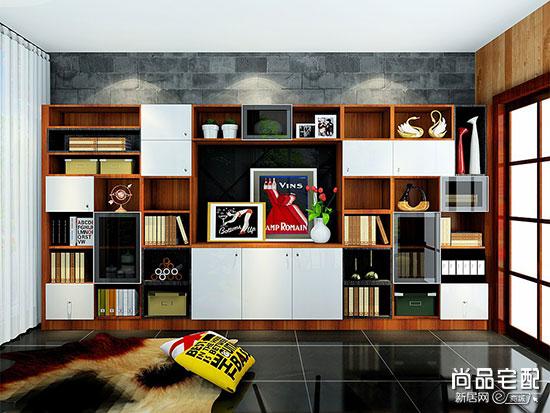 实木书柜图片