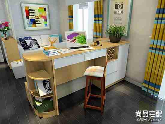 客厅兼书房装修图精选