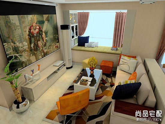 客厅装修样板房效果图