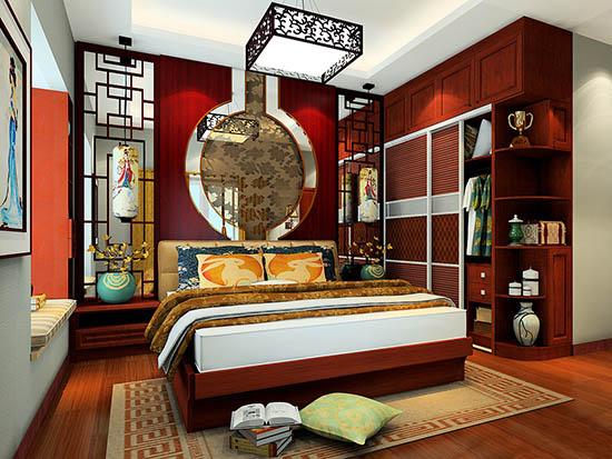 中式卧室背景墙