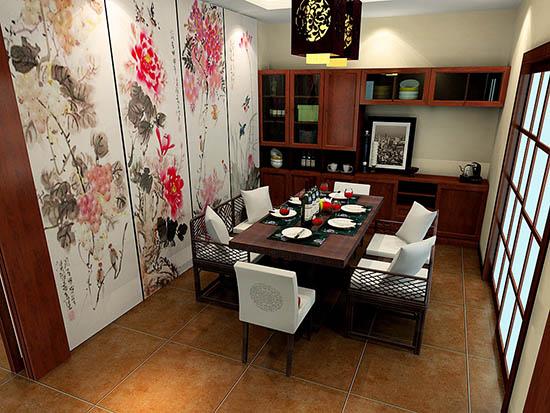 中式餐厅装修效果图大全
