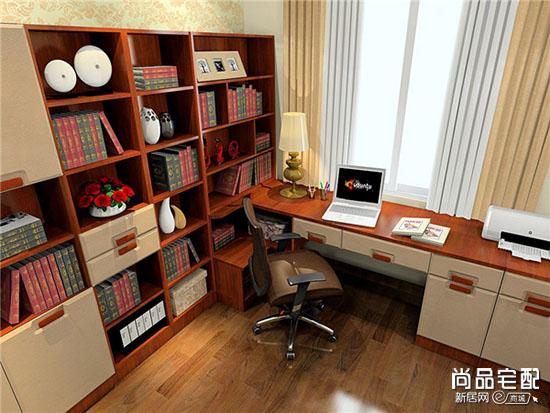 书桌书柜效果图