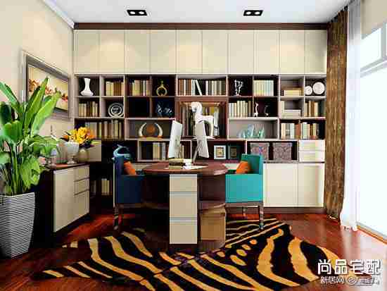 书房设计效果图欣赏