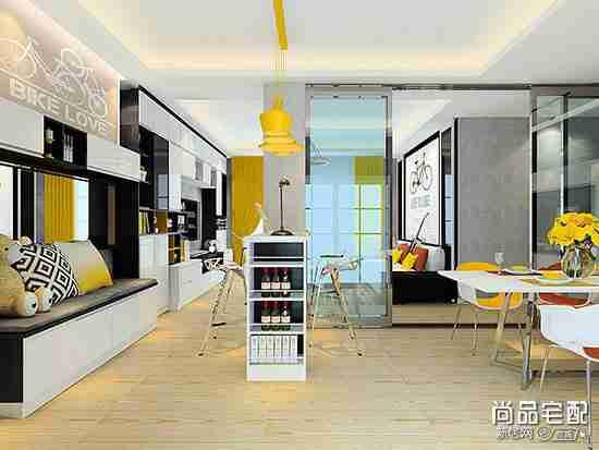 圆弧形客厅这么特别,应该怎么设计?