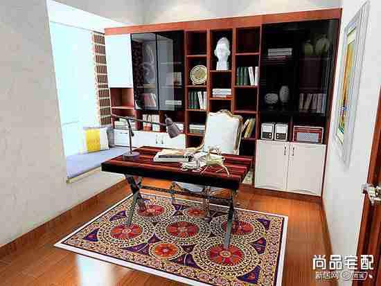 象牙白欧式书柜设计怎么样