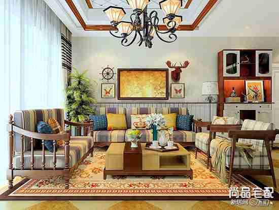 客厅怎么放地毯比较好?