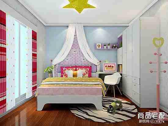 浅紫色儿童房图片欣赏