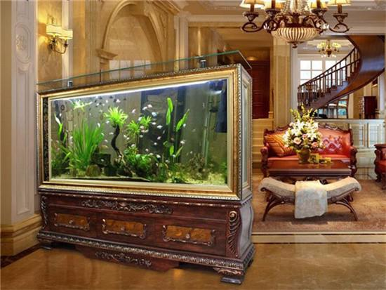 鱼缸上方适合挂钟表吗