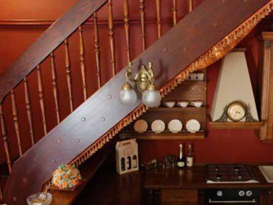 楼梯间厨房装修效果图