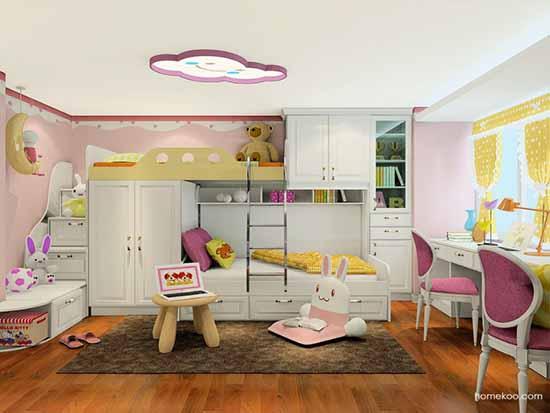 卧室低柜图片_创意儿童房效果图图片,哪种好?