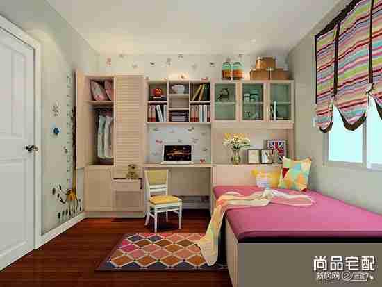 粉色儿童房窗帘颜色搭配