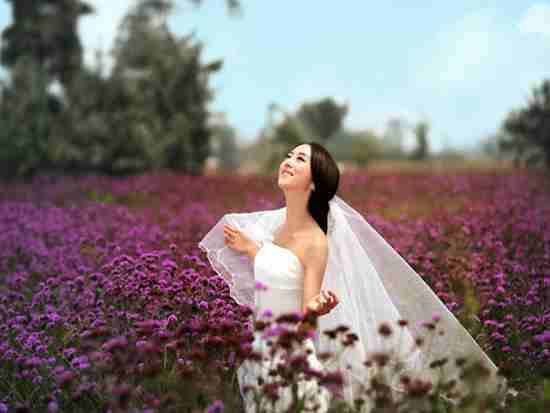 �n式婚�照新娘�l型