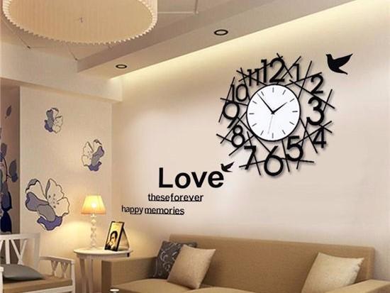 客厅餐厅挂钟效果图欣赏