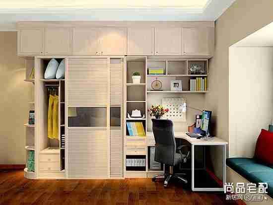 衣柜书柜电脑桌可以都组合到一起吗?具体怎么弄?