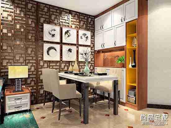 中式餐厅墙纸具体有哪些?