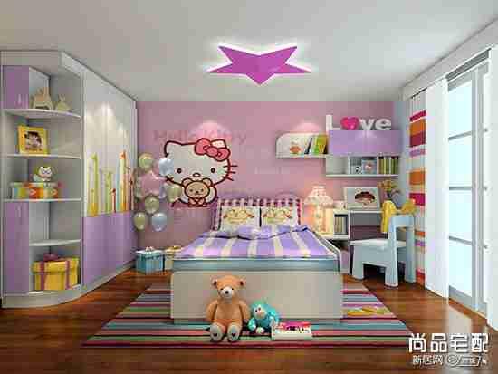 紫色儿童房图片纯色的好吗
