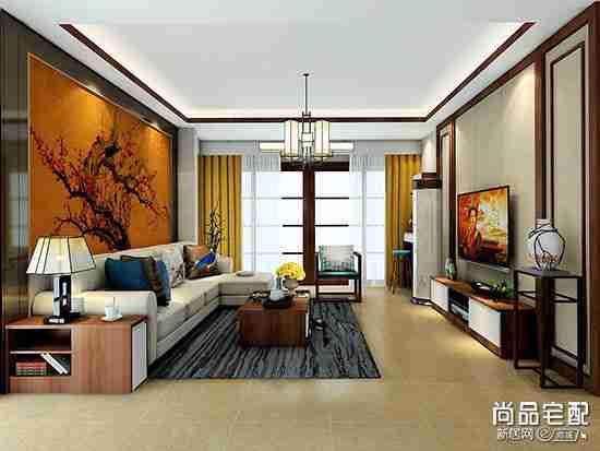 中式落地花瓶客厅摆设具体放哪儿比较好