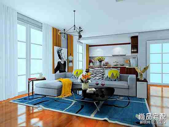 开放式厨房的客厅装修有哪几种可以参考?