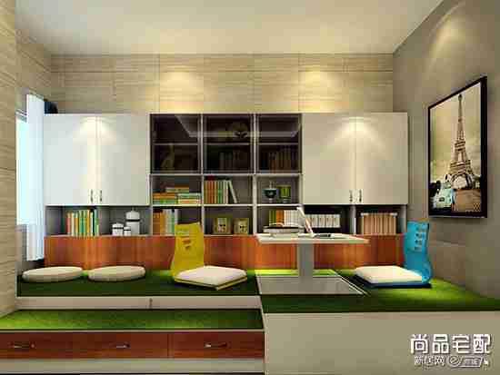 大客厅如何装修出书房
