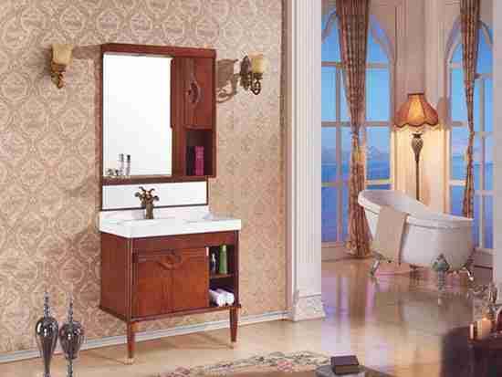 落地橡木浴室柜好不好