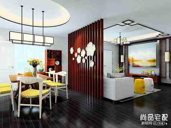 中式餐边柜装饰图片欣赏2018