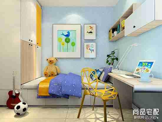 儿童卧室墙纸效果图欣赏