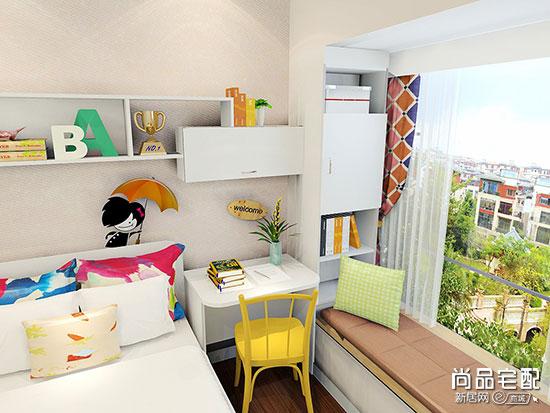 儿童房飘窗设计成书桌