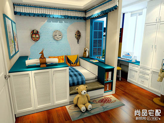 儿童房高低床