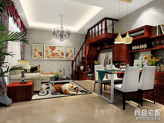 140平米欧式客厅装修效果图案例欣赏