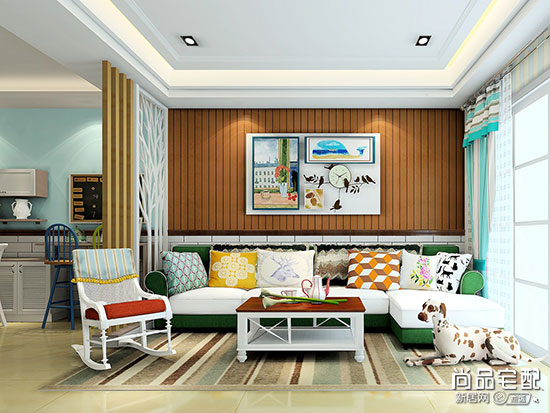 小户型沙发背景墙