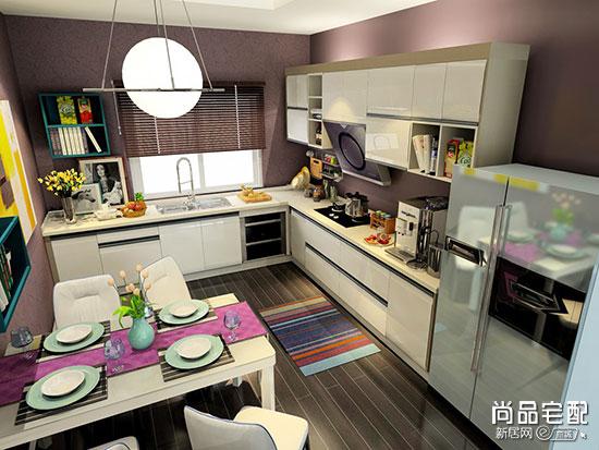 厨房餐厅客厅一体装修效果图