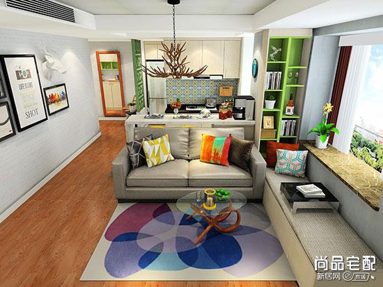 小户型欧式客厅装修效果图,看完再也不担心家里小!