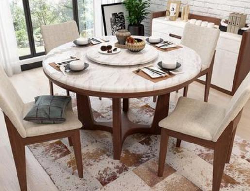 餐厅大理石圆餐桌图片及价格